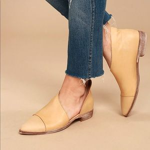 Free People Royale D'Orsay Flat Leather Booties